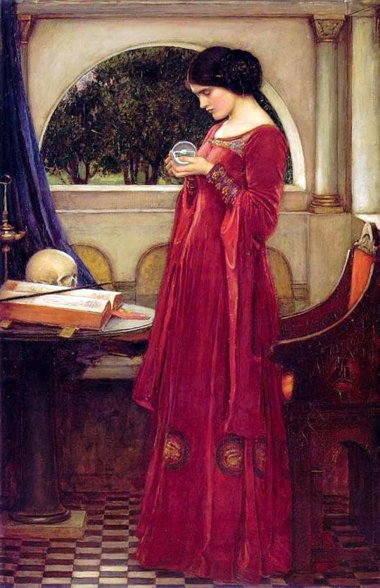 John William Waterhouse, La Bola de Cristal, Tarotistas y Videntes