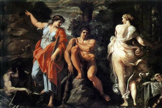 Hercules en la encrucijada, Caracci,   Arcanos Mayores - El Enamorado