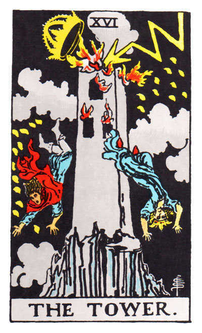 tarot-rider waite -tower
